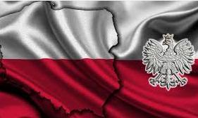 Piekna polska flaga z orlem
