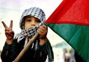 Victorious Palestinian boy