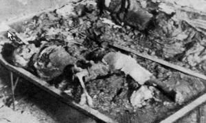 Burnt Polish citizens of Warsaw