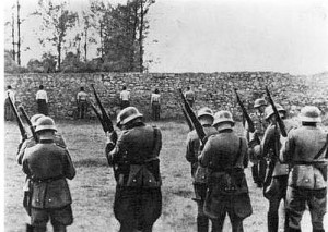 German soldiers preparing for execution