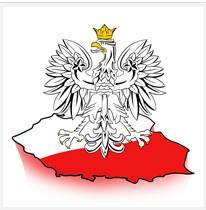 Orzel nad mapa Polski