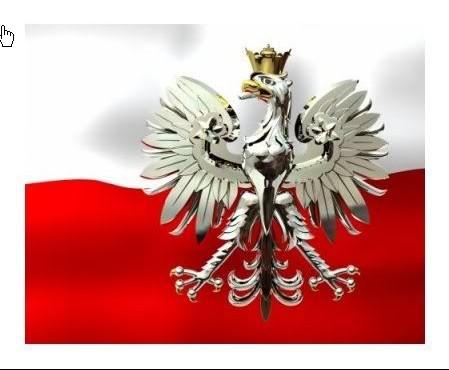 Flaga Polski ze srebrnym orlem