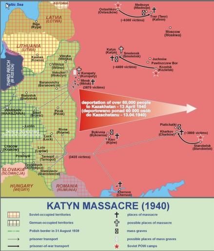 Katyn Massacre map