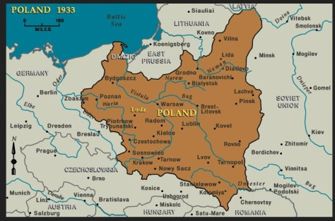 Map of Poland 1933