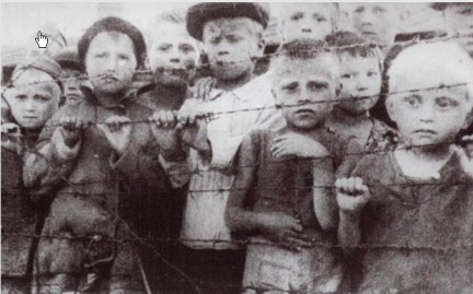 Polish children in German concentrations camp