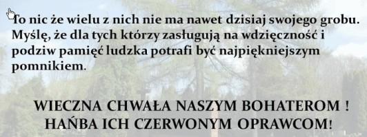 Wielu nie ma grobu