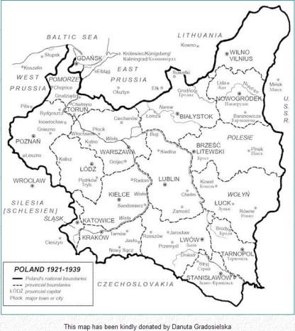 Poland's map 1921-1939
