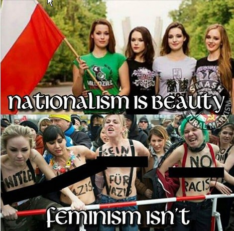Nationalism is beauty-Feminism isn't
