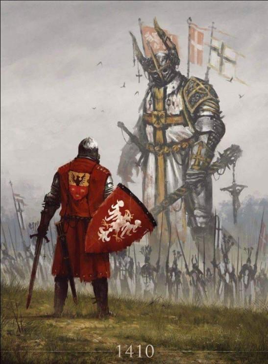 Polski rycerz twarza w twarz z Pruskim potworem-1410