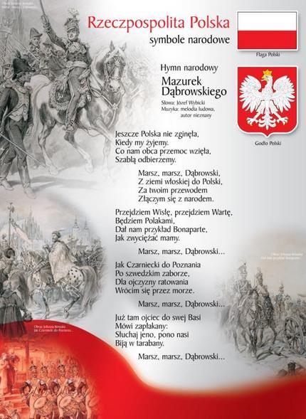 Symbole narodowe z hymnem