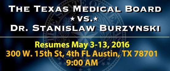 Texas Medical Board prosecutes Dr.Burzynski