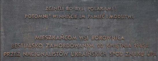 Zgineli w Borownicy bo byli Polakami