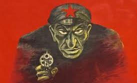 Zydowski bolszewik z pistoletem