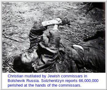 CHRISTIAN MUTILATED by jewish-soviet commissars