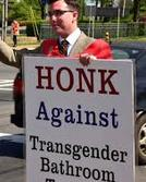 Honk against transgender bathrooms