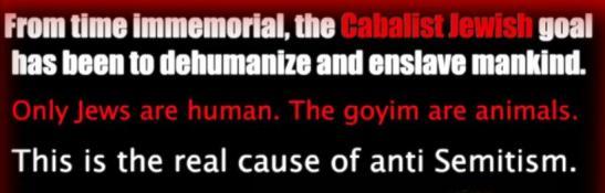 Jewish goal to dehumanize & enslave mankind
