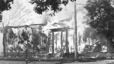 Torched building