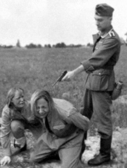Nazi shooting Russian women