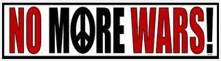 No more wars!