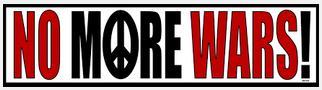 No more wars!