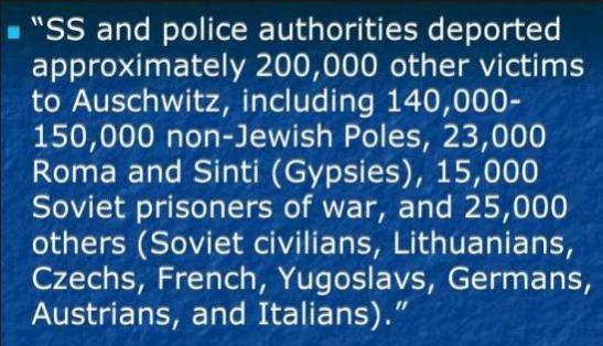 Non-jewish Auschwitz victims