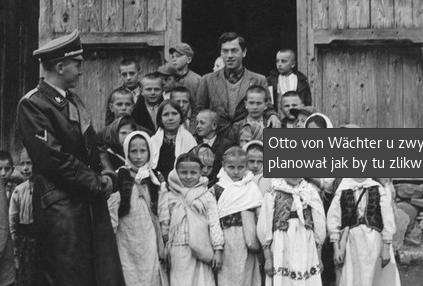 Otto von Wachter with ukrainian family