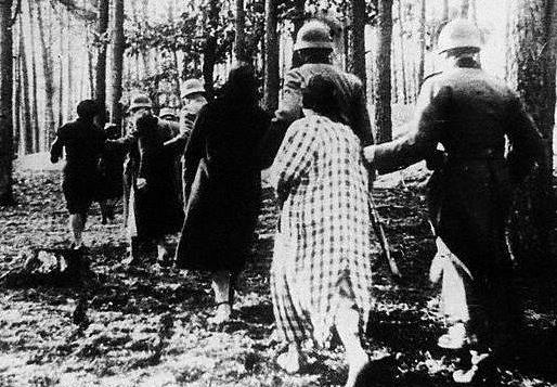 Polish women led for an execution