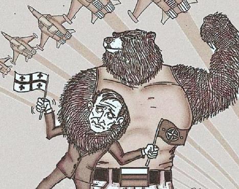 Russian bear takes NATO in a headlock