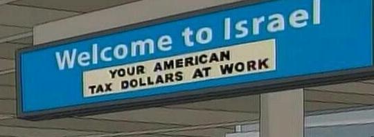 Tax money to Israel
