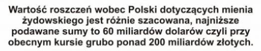 Wartosc roszczen wobec Polski