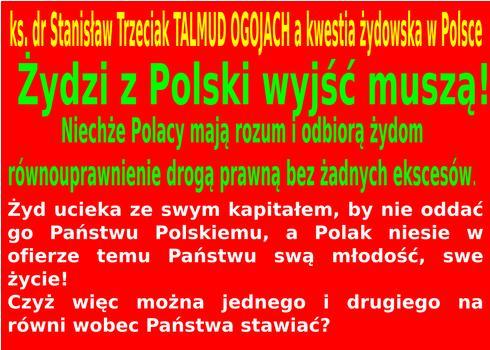 Zydzi z Polski musza wyjsc