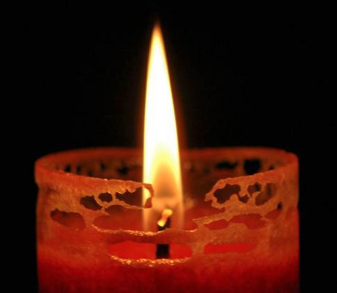 Swieczka na grobie