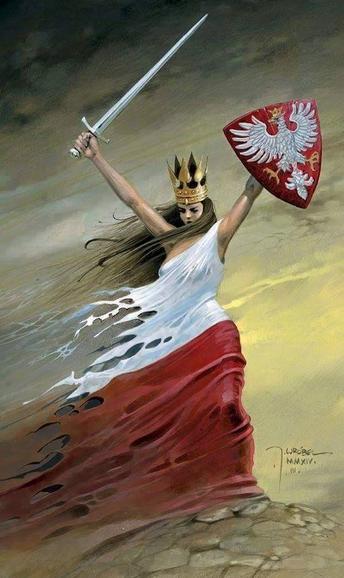 Polka walczaca mieczem