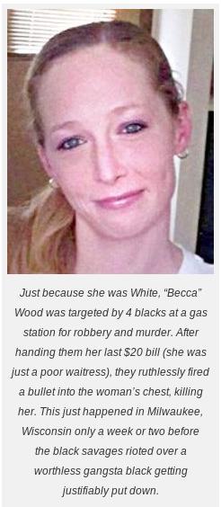 White 'Becca' killed by blacks