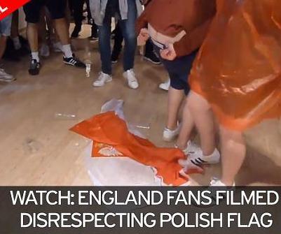 english-fans-desecrating-polish-flag