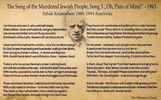 The song of murdered jewish people