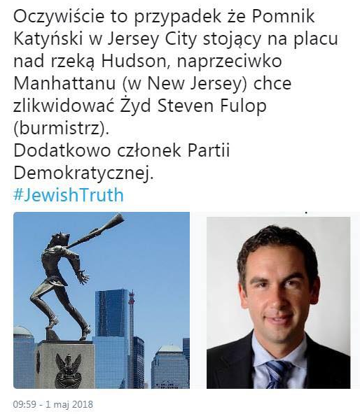 Pomnik Katynski do usuniecia przez zyda