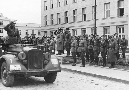 Soviet-German victory parade in Brzesc