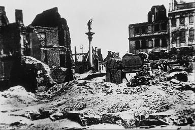 The aftermath of Warsaw Uprising