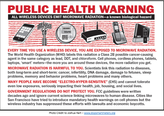 Public Health Warning about 5G tech