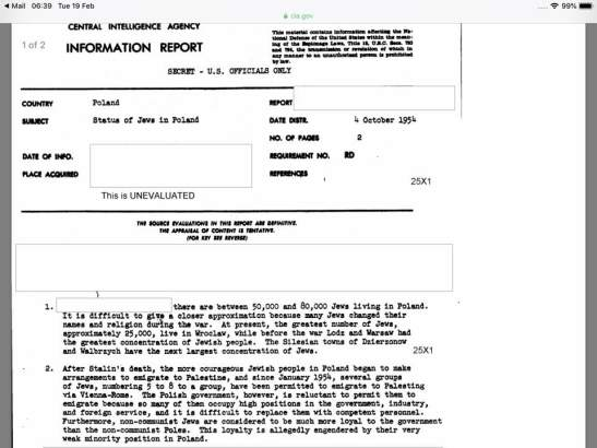 CIA Information Report