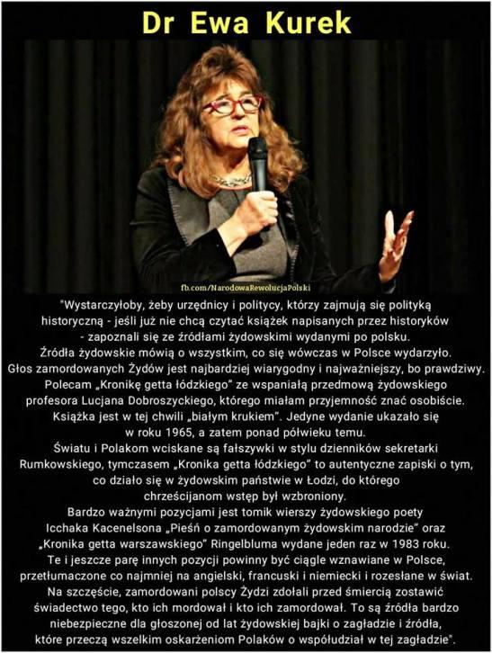 Ewa Kurek- prawda o zydach