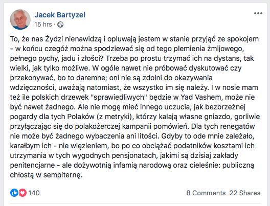 Bartyzel o zydach