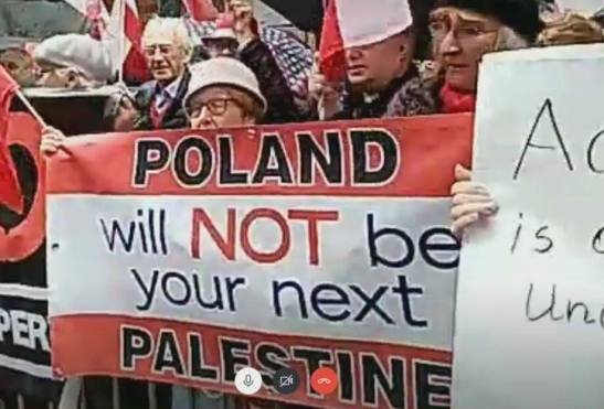 Protest Polonii w USA