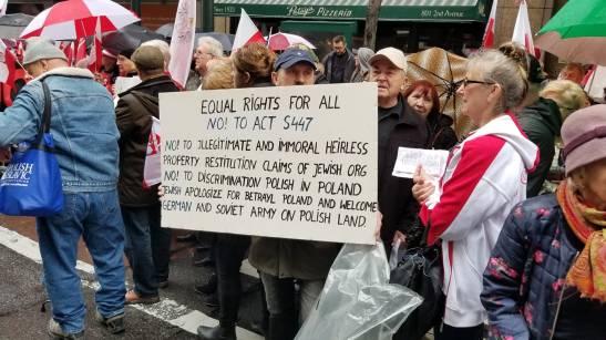 Protest Polonii w USA1