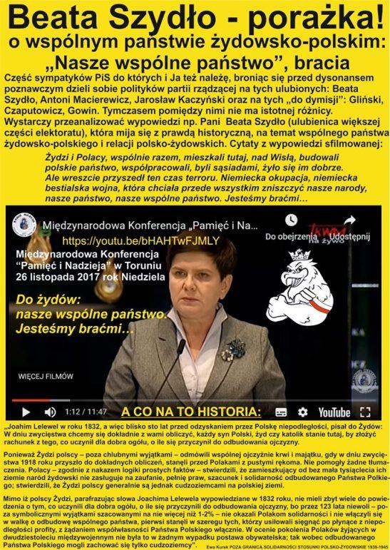 Beata Szydlo - porazka