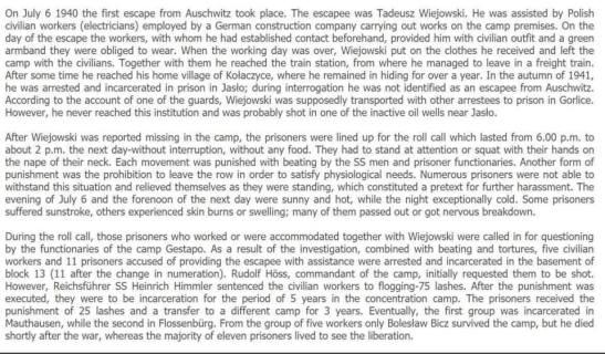 First Auschwitz Escapee