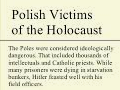 Polish victims of the holocaust