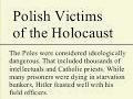 Polish victims of the holocaust