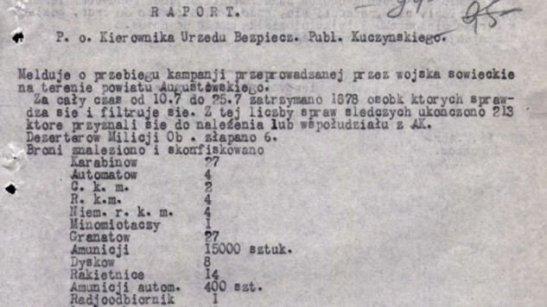 Raport sowiecki oblawy Aug
